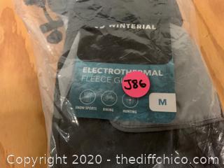 Winterial Battery Powered Heated Snow Gloves - Gray Medium (J86)