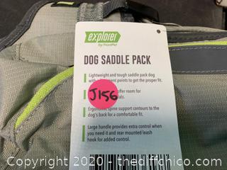Frontpet Ultralight Dog Backpack Harness with Low Profile Saddle Bags (J156)