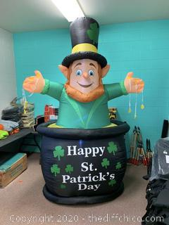 Holidayana Inflatable Saint Patrick's Day Leprechaun in Pot of Gold (J172)