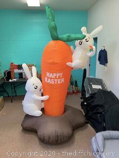 Holidayana Inflatable Easter Bunny Climbing Carrot (J175)