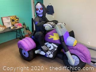 Holidayana 8 ft Long Reaper on Trike Chopper Halloween Inflatable (J180)