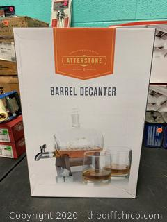 Atterstone Whiskey Barrel Decanter Set (J212)