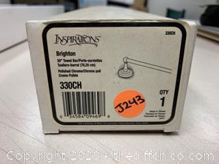 "Moen Brighton 330CH Polished Chrome 30"" Towel Bar (J243)"