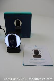 NexiGo Streaming Webcam with Ring Light and Dual Microphone