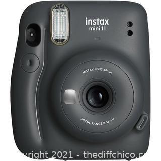 Fujifilm Instax Mini 11 Instant Camera | Charcoal Grey