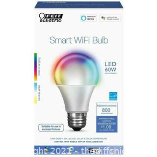 NEW Feit Electric 60W Equiv Daylight A19 Dimmable Color Changing WiFi LED Smart Bulb