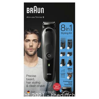 Braun Hair Clippers for Men MGK3260, 7-in-1 Beard Trimmer, Ear and Nose Hair Trimmer, Detail Trimmer, Cordless & Rechargeable