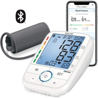Beurer BM67 Upper Arm Blood Pressure Monitor, Large Cuff, Automatic & Digital, XL LCD Display, Bluetooth with App, Home Use BP Machine Kit | Patented Technology, White