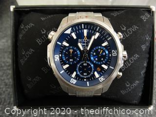 Bulova Mens Watch Very Nice Model 96B256 -C8601294- 20103285  Value 450.00
