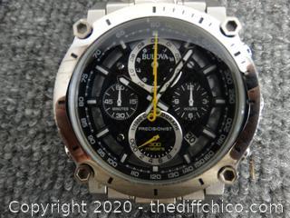 Bulova Mens Watch Very Nice ( Value 799.00)