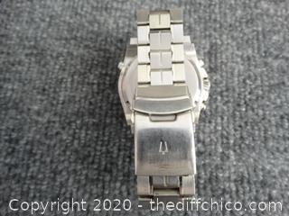 Bulova Mens Watch Very Nice ( Value 799.00)