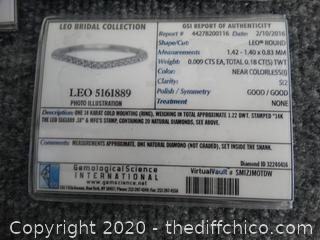 6.5 Leo Diamond Ring COLOR IS FLAWLESS CLARITY IS INTERNALLY Flawless Bands Are    SI2  14KG
