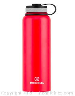 Winterial 40oz Stainless Steel Water Bottle - Red (J22)
