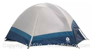 NEW Crescent 2 Person Dome Tent Blue Large Exterior Storage Space Quick Set Up