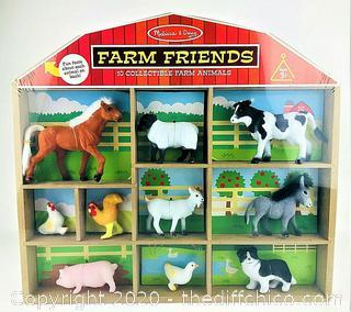 NEW SEALED Melissa & Doug Farm Friends - 10 Collectible Farm Animals