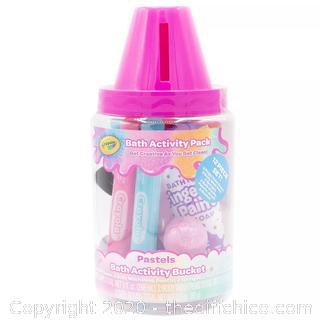 NEW Crayola Bathtub Activity Bucket Pink