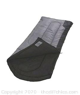 Coleman Torrey 30 Degree Big and Tall Sleeping Bag - Black/Gray