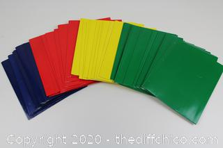 (LOT OF 40) 2 Pocket Paper Folder with Prongs