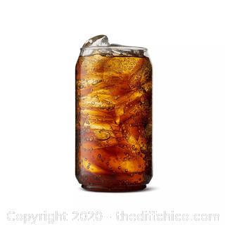 SET OF 12-12oz Beer Can Plastic Glasses - TOSSWARE