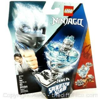 LEGO NINJAGO Spinjitzu Slam Zane 70683 Building Kit (63 Pieces) - NEW SEALED