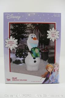 NEW Airblown 5.5-Foot Disney Frozen Olaf Winter Self-Inflatable Light-Up Yard Decor