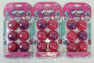 LOT OF 3 Pop Pops Pets - Series 1 (Starter Pack) Blind Package Brand New Sealed