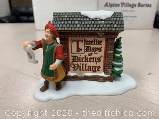 Department 56 The 12 Days of Dickens Village Sign (J6)
