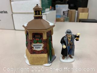 "Department 56 ""Brixton Road Watchman"" Set of 2 (J12)"