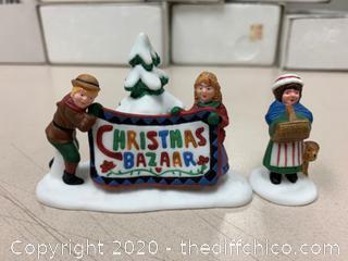 Department 56 New England Village Christmas Bazaar Sign (J19)
