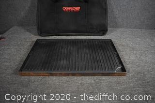 Camp Chest Cast Iron Griddle w/case