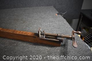 Vintage 77in long Clamp