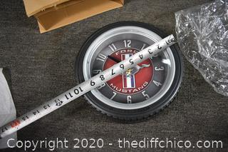 New Ford Mustang Clock