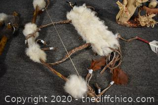 Indian Dream Catchers, Bow and More