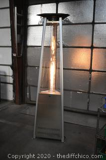 Working Pyramid Flame Outdoor Patio Heater-tank not included