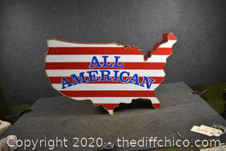 ALL AMERICAN Sign