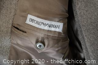 Emporio Armani Suit Size 48 , pants estimated 36x31