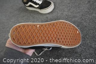 Black Vans Shoes Mens 5 Women's 6.5