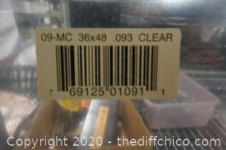 "4 Pieces Of PlexiGlass 36""x 48""   1/8"" Thick"