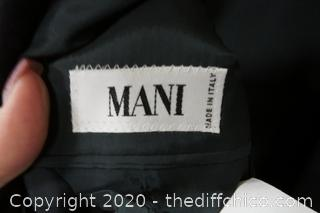 Mani Dress Coat Made In Italy Size 12R
