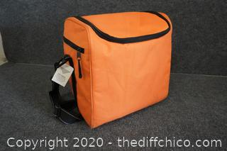 Soft Orange Lunch Box With Tags