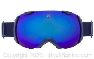 Winterial Globe Ski and Snowboard Goggles, UV Protection, Black (J5)