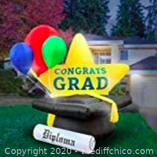 Holidayana 8-Foot Inflatable Graduation Star (J14)