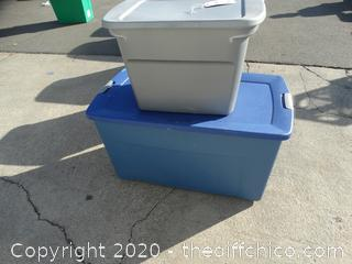 2 Tubs With Lids