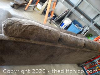 Nice 8' Brown Couch