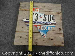 Texas License Plate Decor