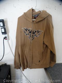 Top Heavy Zip Up Sweatshirt XL