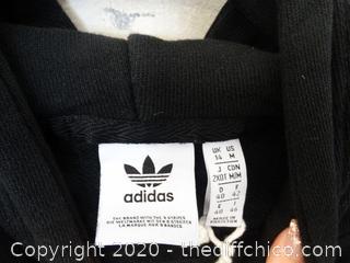 Adidas Girls zip Up med