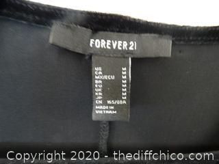 Forever 21 Low cut Velvet  Dress Med
