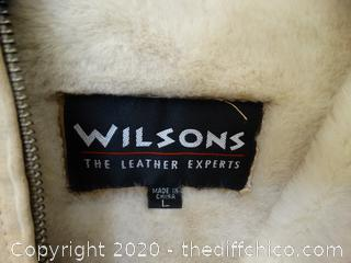 Wilson Leather Jacket Size L