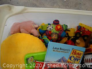 Little Tikes Toy Box With Toys